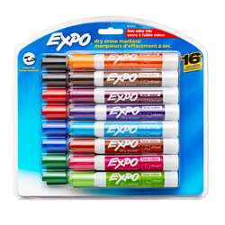 Expo Lowodor Dry Erase 16 Color Set Markers By Newell