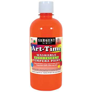 Arttime Fluorescent Paint 16 Oz Or Washable Temper, SAR174714