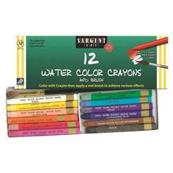 12 Ct Watercolor Crayon By Sargent Art