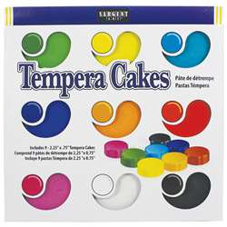 9Ct Asst Sargent Art Tempera Cakes By Sargent Art