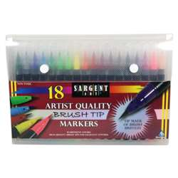 Artist Brush Tip Markers, SAR221585