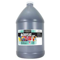 64Oz Acrylic - Black By Sargent Art