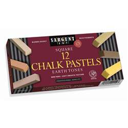 Sargent Art Sq Chalk 12 Earth Tone Colors Pastels, SAR224113