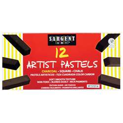 Sargent Art Sq Chalk 12 Charcoal Colors Pastels, SAR224115
