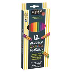 12Ct Sargent Erasable Clrd Pencil, SAR227203