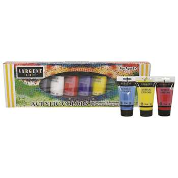 10Ct Acrylic Tube Set 75Ml Each, SAR230299