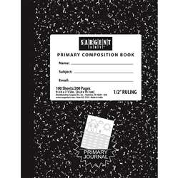 100 Sheets Hard Cover Primary Ruled Composition Notebook By Sargent Art