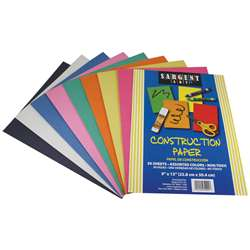 Construction Paper 50 Sheet Asst Color Pack By Sargent Art