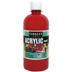 16Oz Acrylic Paint - Red By Sargent Art