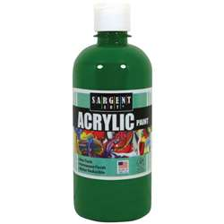 16Oz Acrylic Paint - Green By Sargent Art
