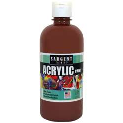 16Oz Acrylic Paint - Brown By Sargent Art