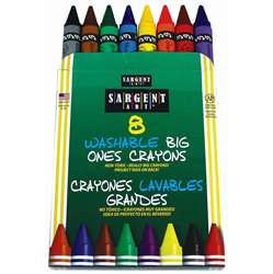 8Ct Washable Crayon Big Ones Peggable Box, SAR350542