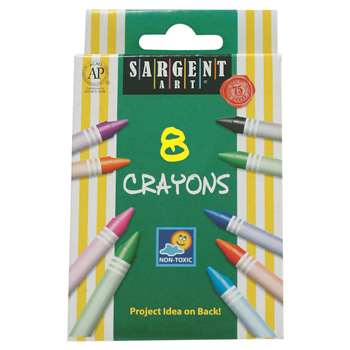 Sargent Art Crayons 8 Count Tuck Bx By Sargent Art