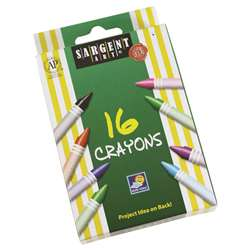 Sargent Art Crayons 16 Count Tuck Box, SAR550916