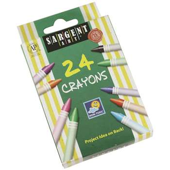 Sargent Art Crayons 24 Count Tuck Box By Sargent Art