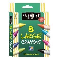Sargent Art Crayons Jumbo 8 Count Tuck Box By Sargent Art