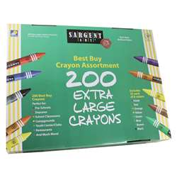Sargent Art Best Buy Crayon Assortment Jumbo Size 200 Crayons By Sargent Art