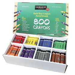 Sargent Art Best Buy Crayon 800 Assortment Std Crayons 100 Ea Color By Sargent Art