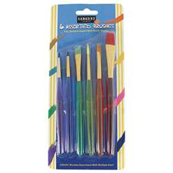 6Ct Childrens Asst Taklon Brushes, SAR563013