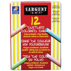 Assorted Dustless Chalkboard Chalk By Sargent Art