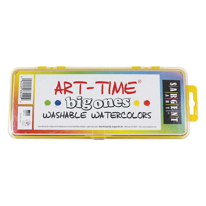 4 Art Time Big Ones Washable Watercolors By Sargent Art