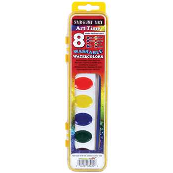 8 Semi-Moist Watercolors Washable By Sargent Art