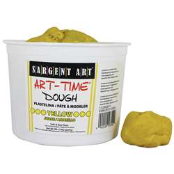 3Lb Art Time Dough - Yellow By Sargent Art