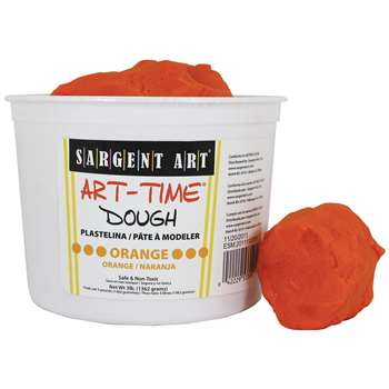 3Lb Art Time Dough - Orange By Sargent Art