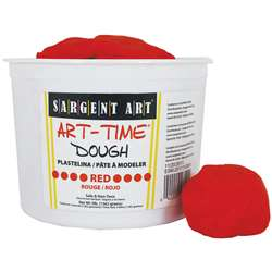3Lb Art Time Dough - Red By Sargent Art