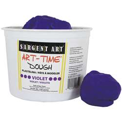 3Lb Art Time Dough - Violet By Sargent Art