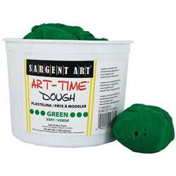 3Lb Art Time Dough - Green By Sargent Art