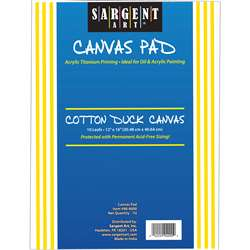 Sargent Art Canvas Pad 12x16, SAR904000