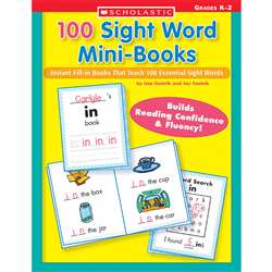 100 Sight Word Mini-Books By Scholastic Books Trade