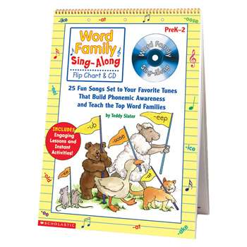 Word Family Sing-Along Flip Chart & Cd By Scholastic Books Trade