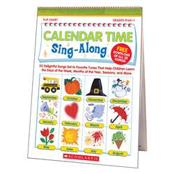 Calendar Time Sing Along Flip Chart And Cd By Scholastic Books Trade