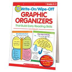 10 Write-On/Wipe-Off Graphic Organizers That Build Early Readng Skills By Scholastic Books Trade