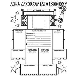 All About Me Robot Graphic Organizer Posters By Scholastic Books Trade