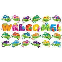 Welcome Chameleons Bulletin Board Set By Scholastic Books Trade