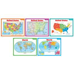 Teaching Maps Bulletin Board Set By Scholastic Books Trade