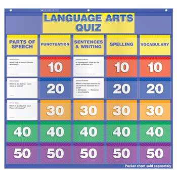 Language Arts Class Quiz 5-6 Pocket Chart Add Ons By Scholastic Books Trade