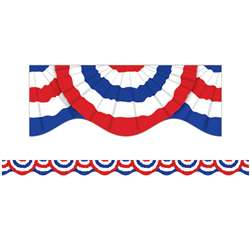 Patriotic Bunting Scalloped Trimmer By Scholastic Books Trade