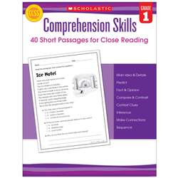 Comprehension Skills Gr 1 40 Short Passages For Close Reading By Scholastic Books Trade