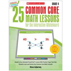 25 Common Core Gr 4 Math Lessons For The Interacti, SC-548619