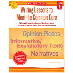 Writing Lessons To Meet The Common Core Gr 1, SC-549597