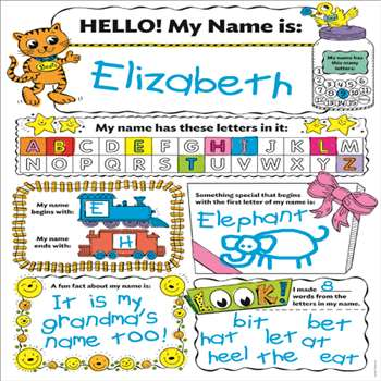 Personal Poster Set My Name By Scholastic Teaching Resources