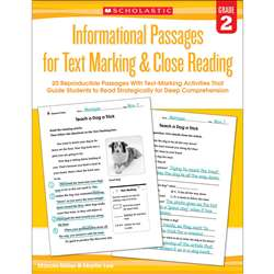 Gr 2 Informational Passages For Text Marking & Clo, SC-579378