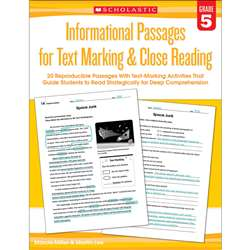 Gr 5 Informational Passages For Text Marking & Clo, SC-579381