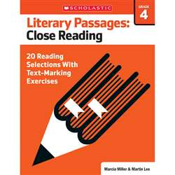 Literary Passages Close Reading Gr4, SC-579387