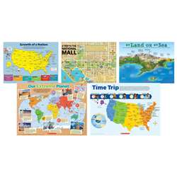 Map Skills 5 Piece Poster St, SC-804630