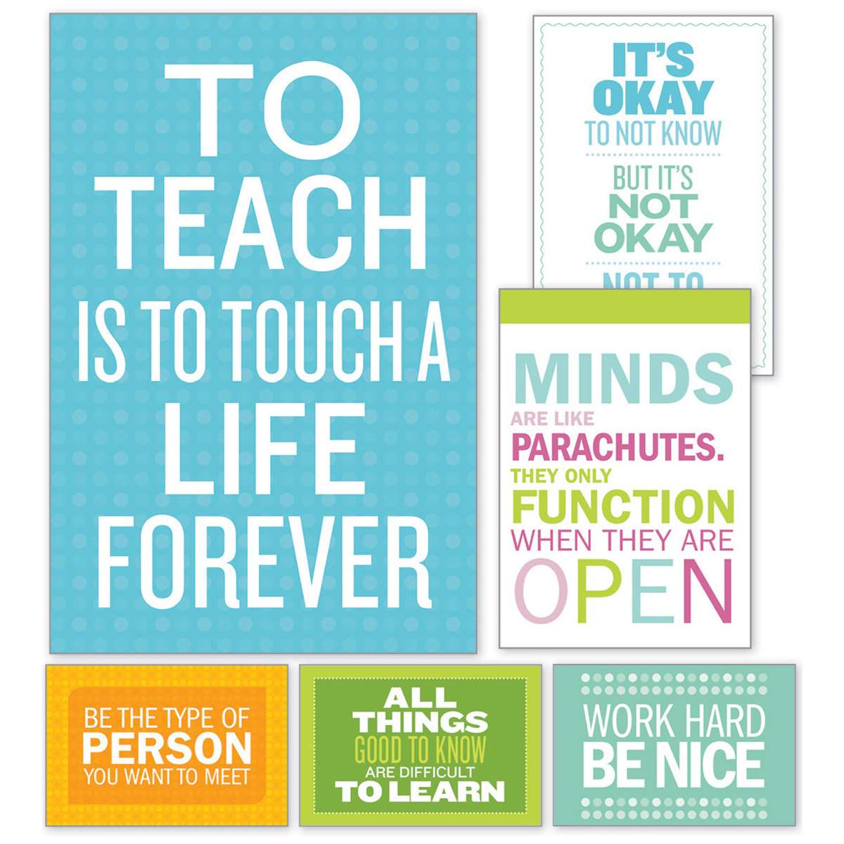 Inspirational Quotes Poster Bulletin Board St SC Scholastic - Blank world map scholastic